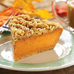 Walnut Crumble Pumpkin Pie